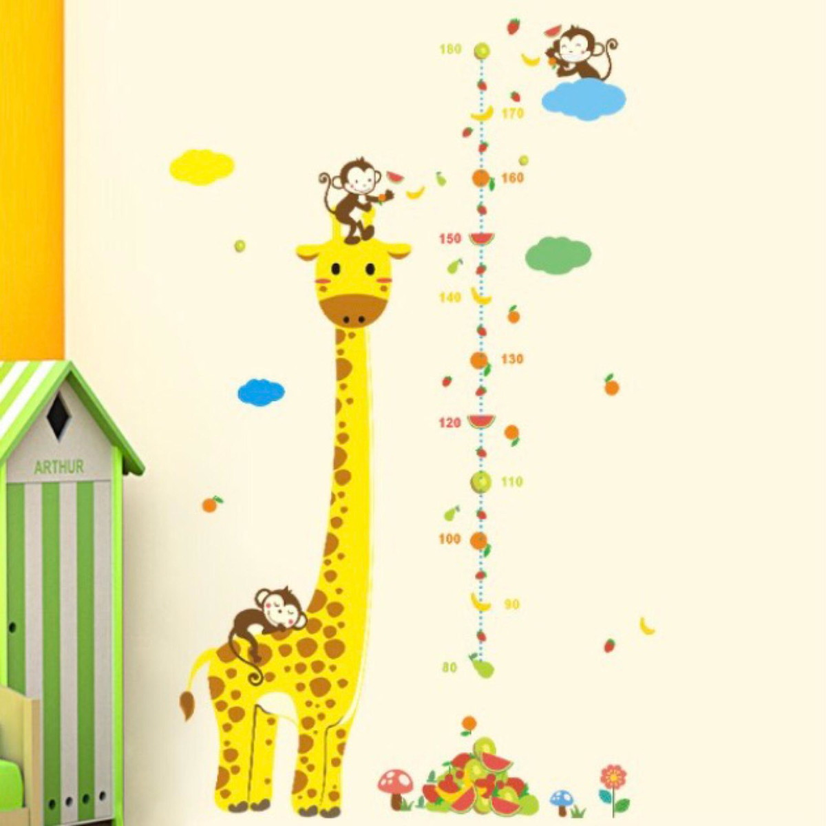 Adesivo Girafa Régua Medir Criança No Elo7