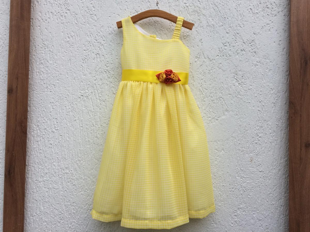 9d99b28321 vestido amarelo chifon no Elo7