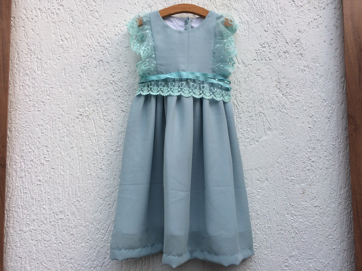 07f0d43747 vestido azul chiffon e tule no Elo7