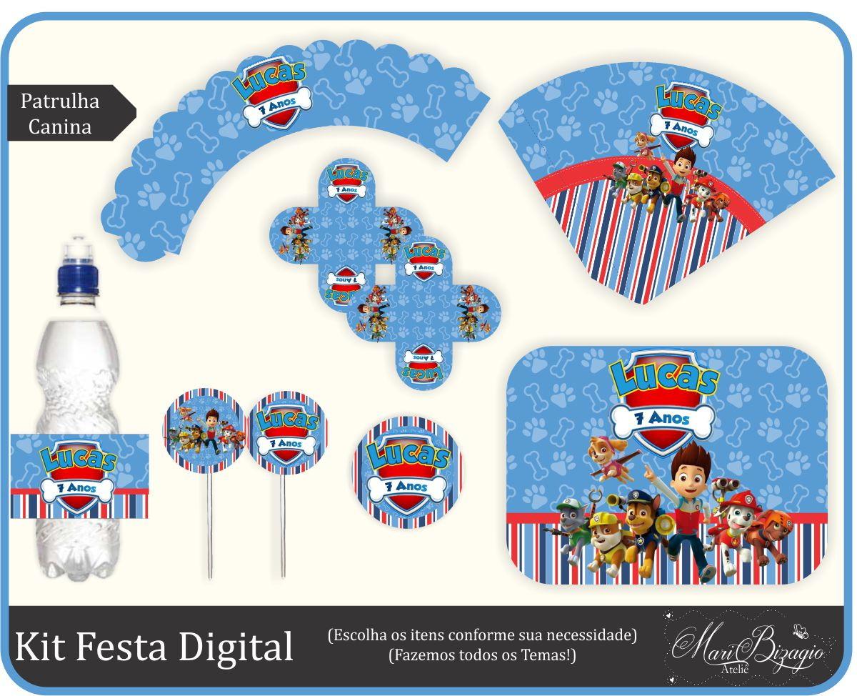 Kit Festa Digital - Patrulha Canina No Elo7