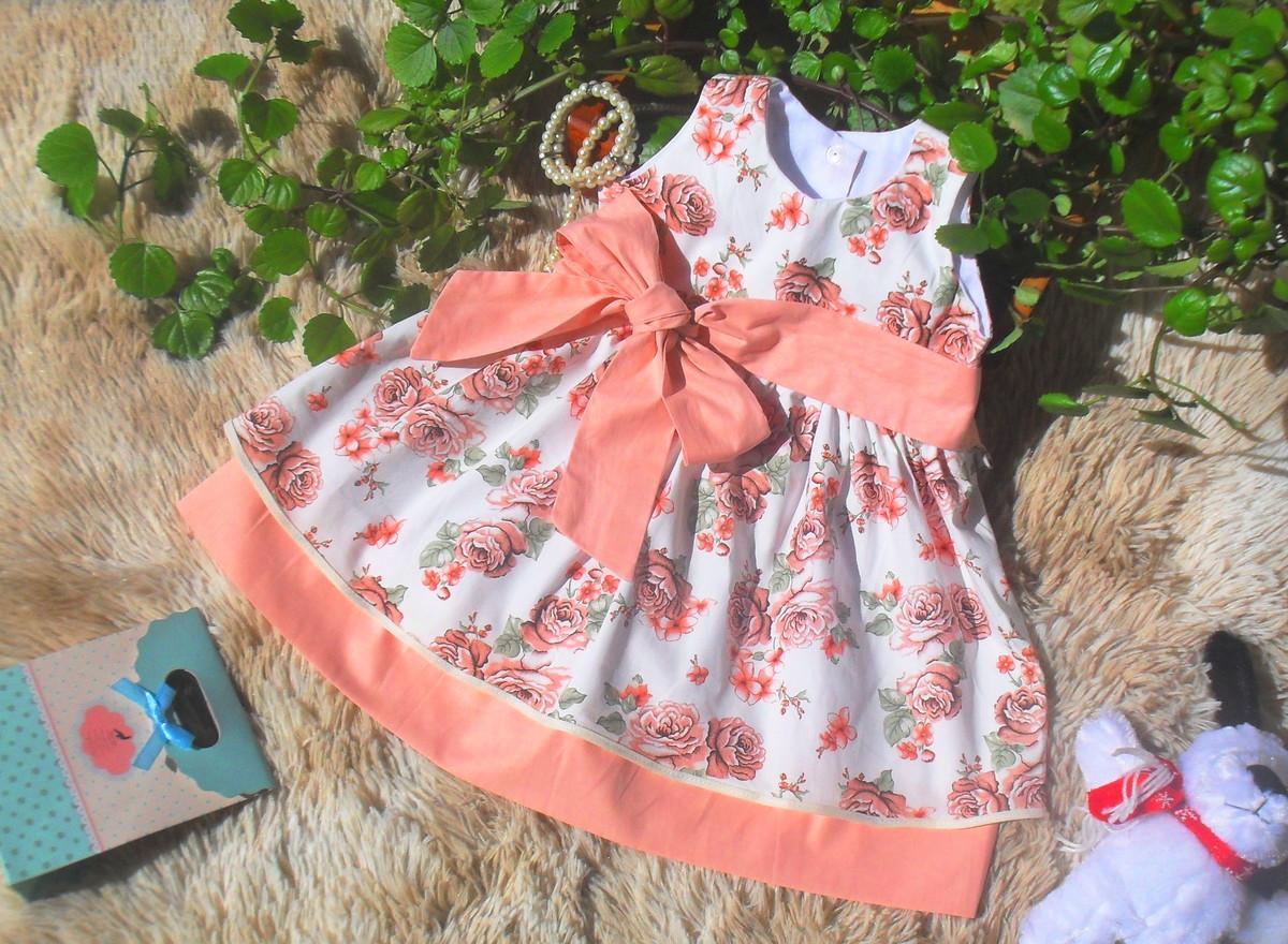cc62bac09b Vestido Infantil Menina Floral no Elo7