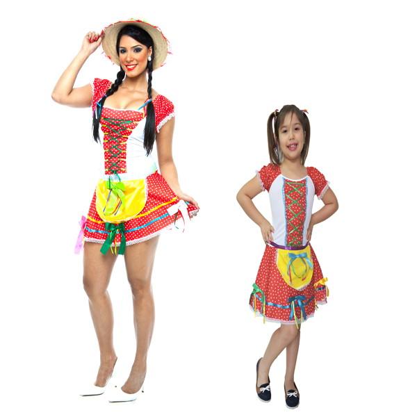 633a41312 Vestido Festa Junina Mãe e Filha Junino no Elo7   Loja Pierrot ...