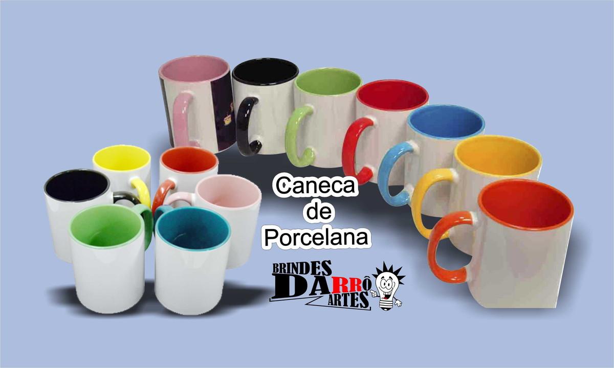 60cd02aa5 4 Canecas Porcelana Color Interna no Elo7