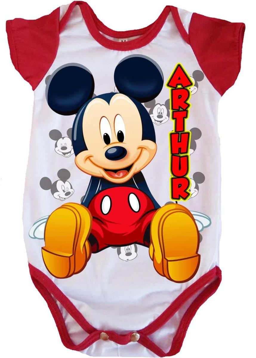 247f767d6 Body de bebê Mickey no Elo7