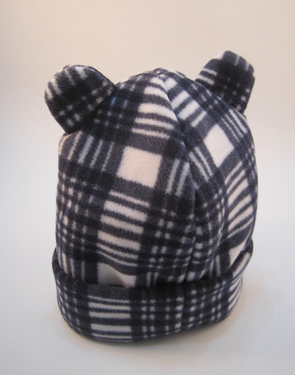 Gorro orelha urso Soft xadrez azul - 3M no Elo7  a4088484bbf
