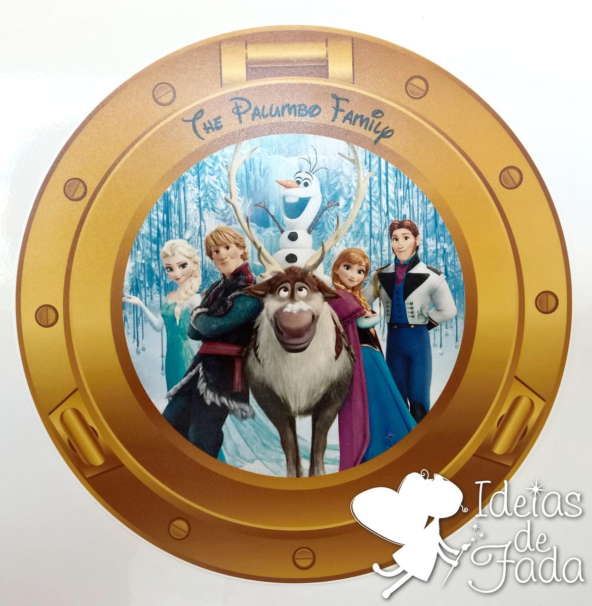 5ac5e18724 Janela Cabine Frozen Disney Dream no Elo7