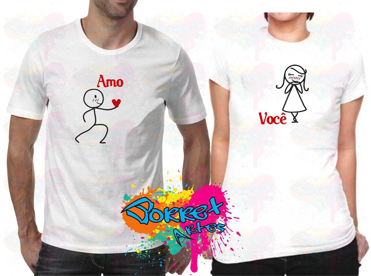 4004454d7f9a2 Kit 2 Camisas Dia dos Namorados Amo Você no Elo7 | Nila ...