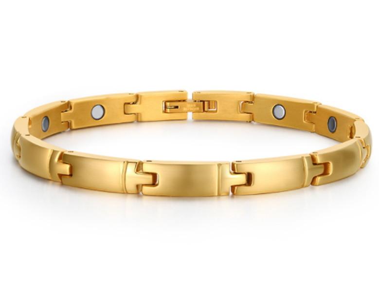 726f79c9655 Pulseira magnética banho ouro no Elo7