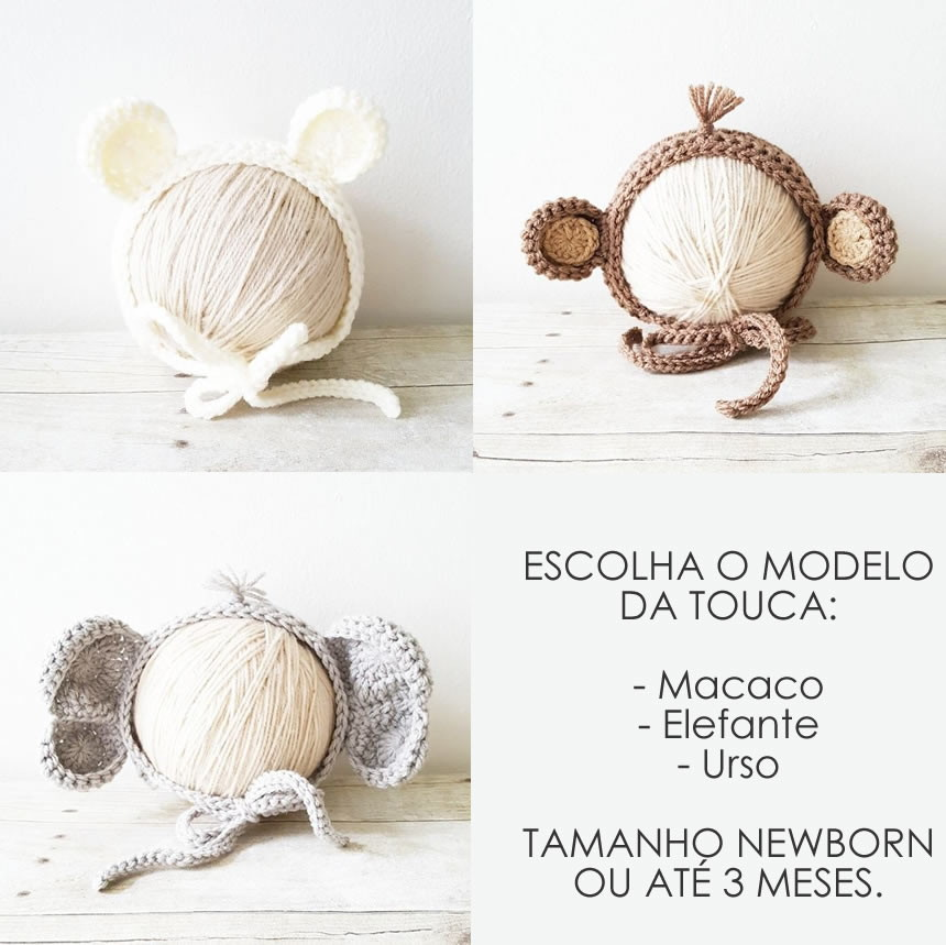 TOUCA DE BICHINHOS NEWBORN no Elo7  aab8e0a9763