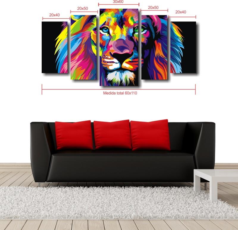 fbfd40a56 Quadro Decorativo Leão Moderno Para Sala no Elo7