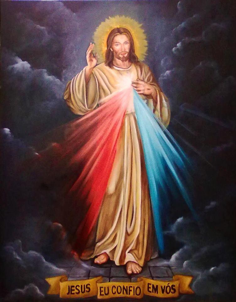 Muito Pintura Jesus Misericordioso 50x70cm no Elo7 | Granito Artes  ZC12