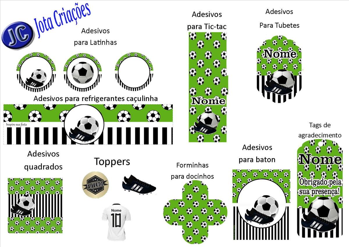 Kit com 140 Itens festa Futebol no Elo7  f023f51dc4395