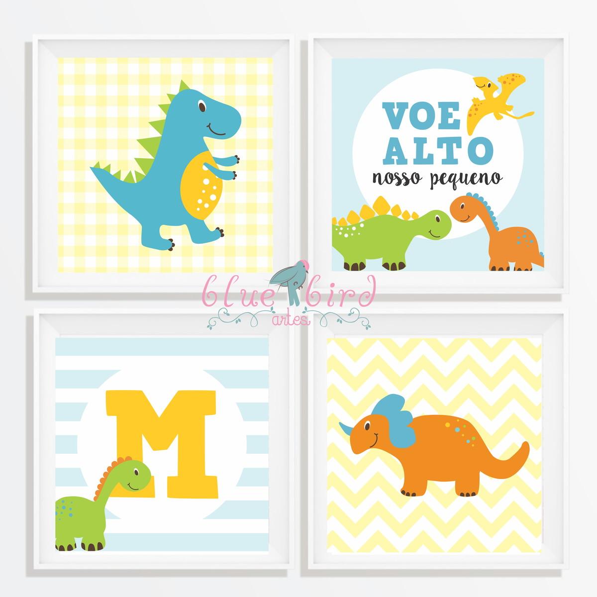 676802a19f6bf8 arte para impressão quarto dinossauro- letra personalisavel