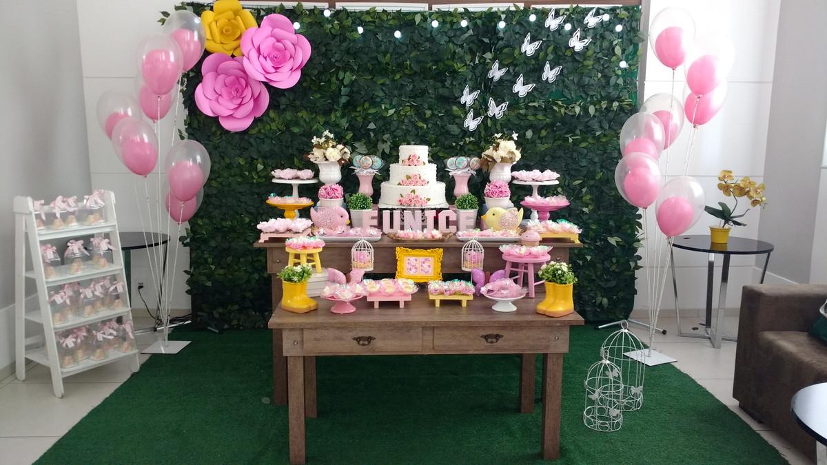 ALUGUEL DECORA u00c7ÃO TEMA JARDIM RUSTICO no Elo7 KFG Festas (84BA34) -> Decoração De Festa Infantil Jardim Encantado Rustico