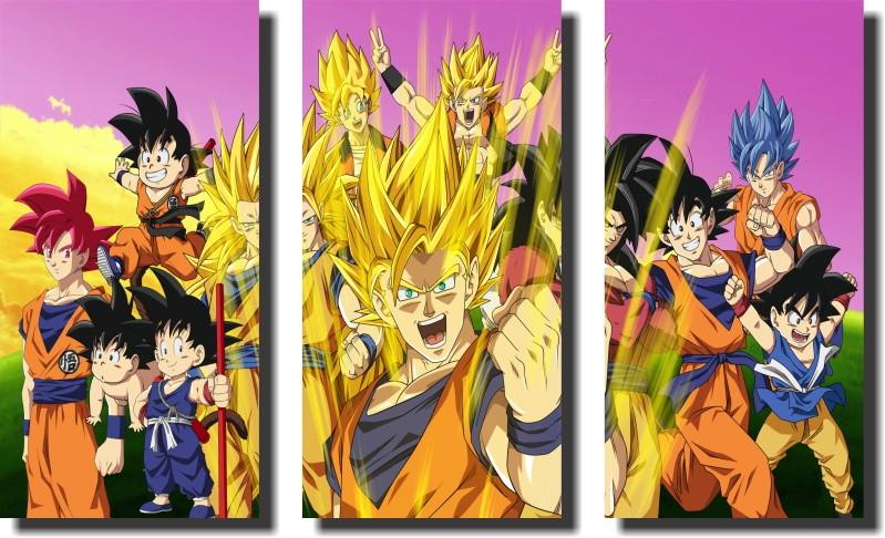 Quadro Dragon Ball Z Goku Super Sayajin