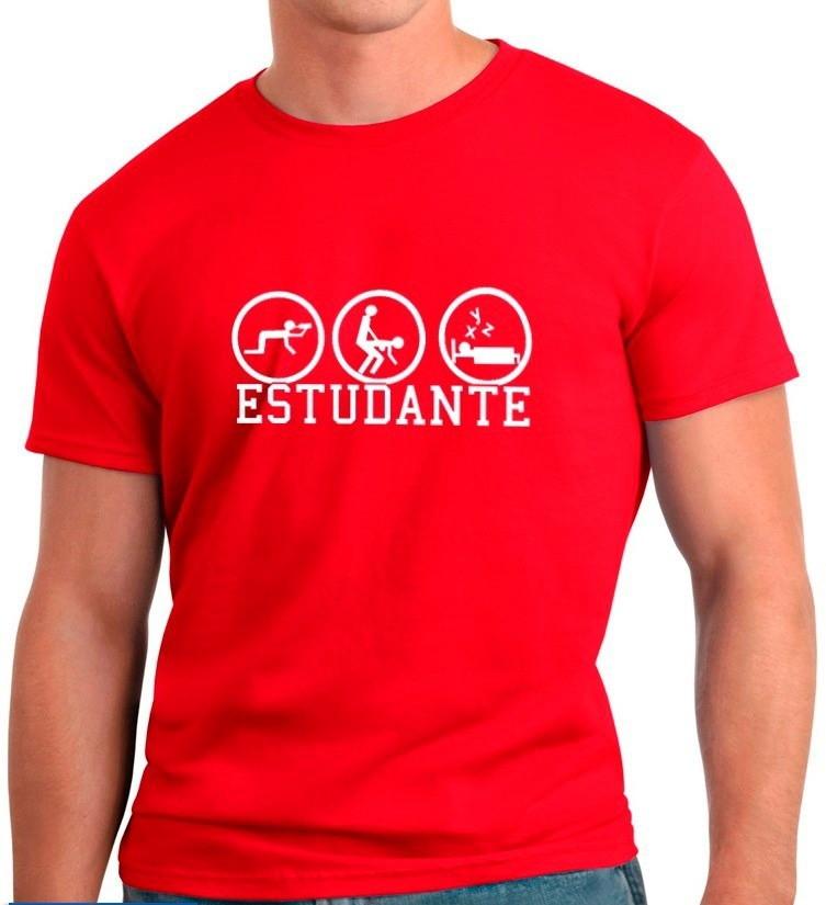 fcafa3bb276dd Camisetas Engraçadas Estudante no Elo7