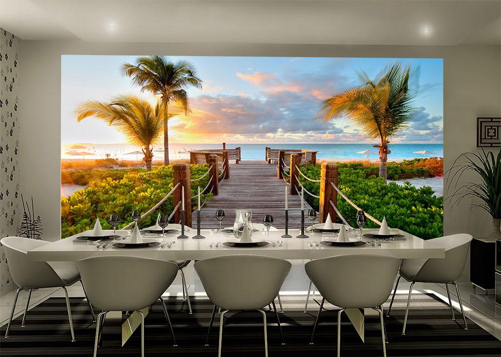 Papel de parede 3d paisagens praias up adesivos 3d elo7 for Papel pared personalizado foto