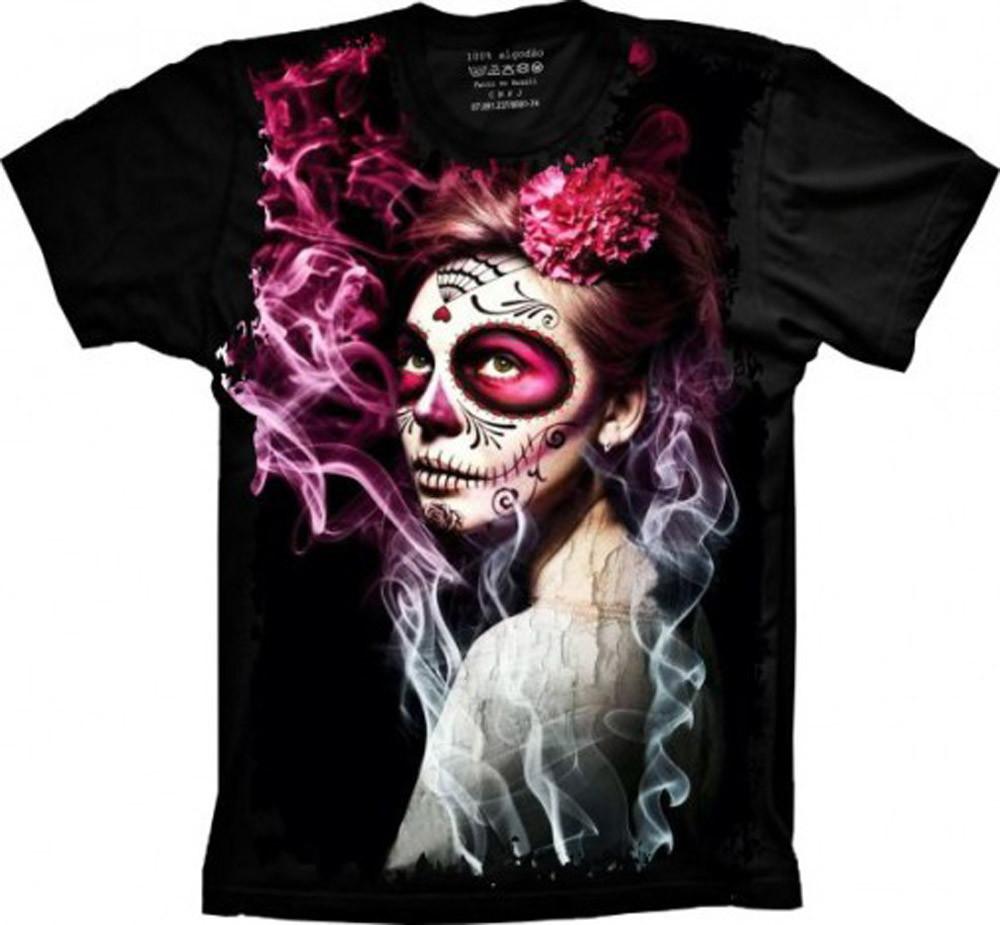 26e61f3f3 Camiseta Caveira Mexicana 2 no Elo7