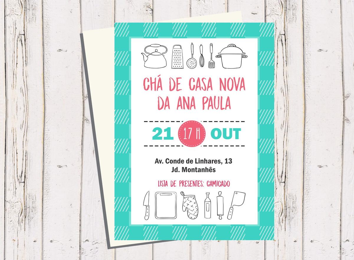 Convite Chá De Casa Nova Xadrez No Elo7 Studio 2k 9680ad