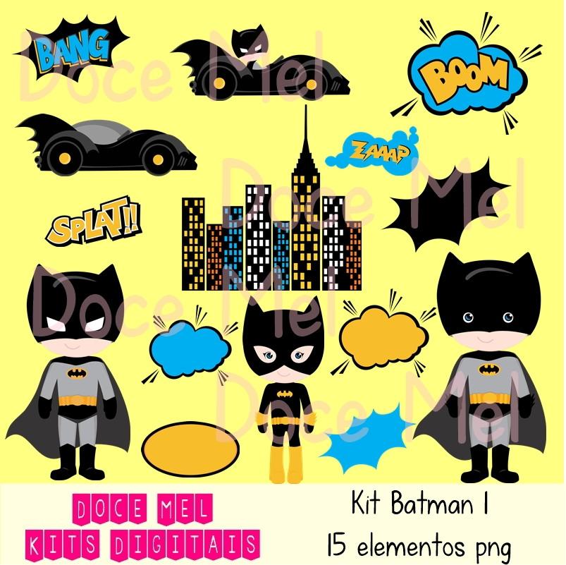 Kit Digital Batman 1 No Elo7 Doce Mel Kits Digitais 9682f9