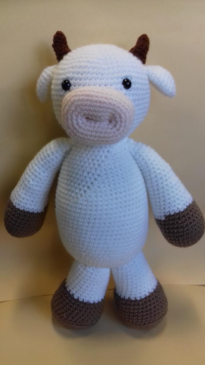 Cuddle and Play Cow Baby Blanket Crochet Pattern | Häkelanleitung ... | 1200x675