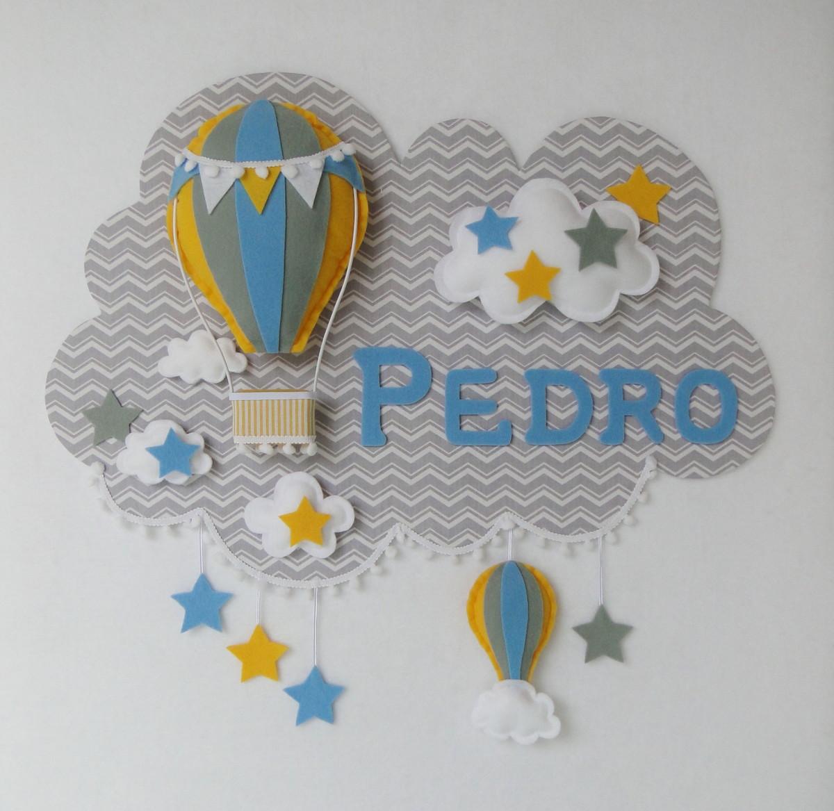 Painel PORTA MATERNIDADE Balão 19 Feltro no Elo7  d3f14f3460230