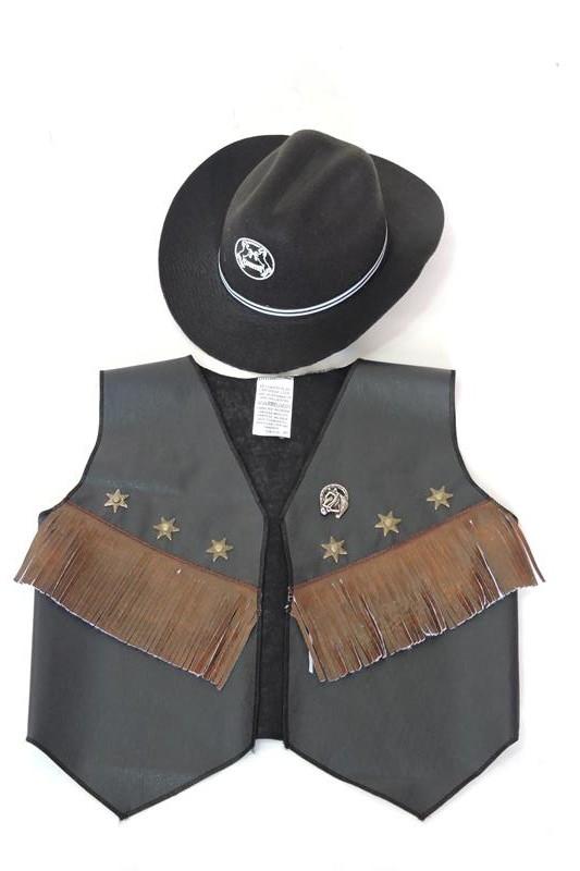 Colete e Chapeu cowboy infantil no Elo7  d16391556bc