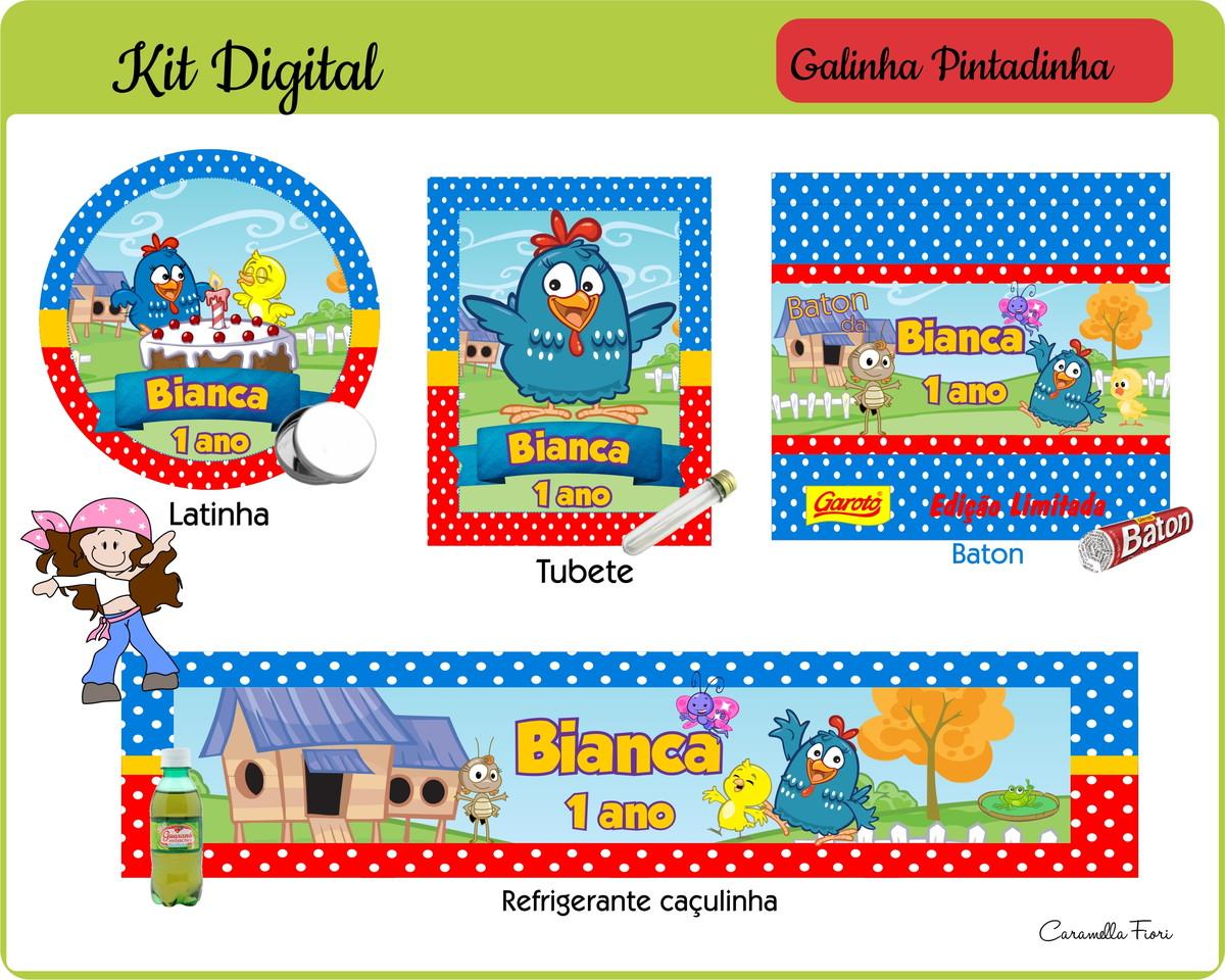 Kit Digital Galinha Pintadinha No Elo7 Caramella Fiori Digital