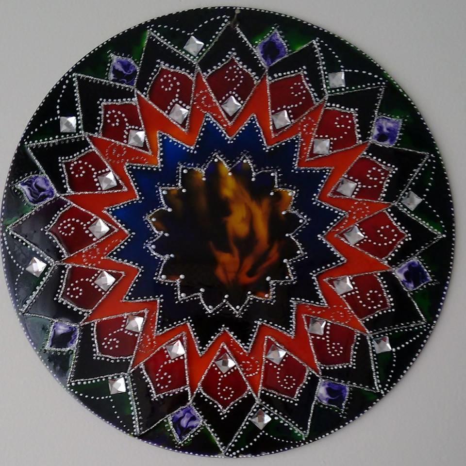 Mandala encanto regina de ponte designer elo7 for Cuadros mandalas feng shui decoracion mandalas