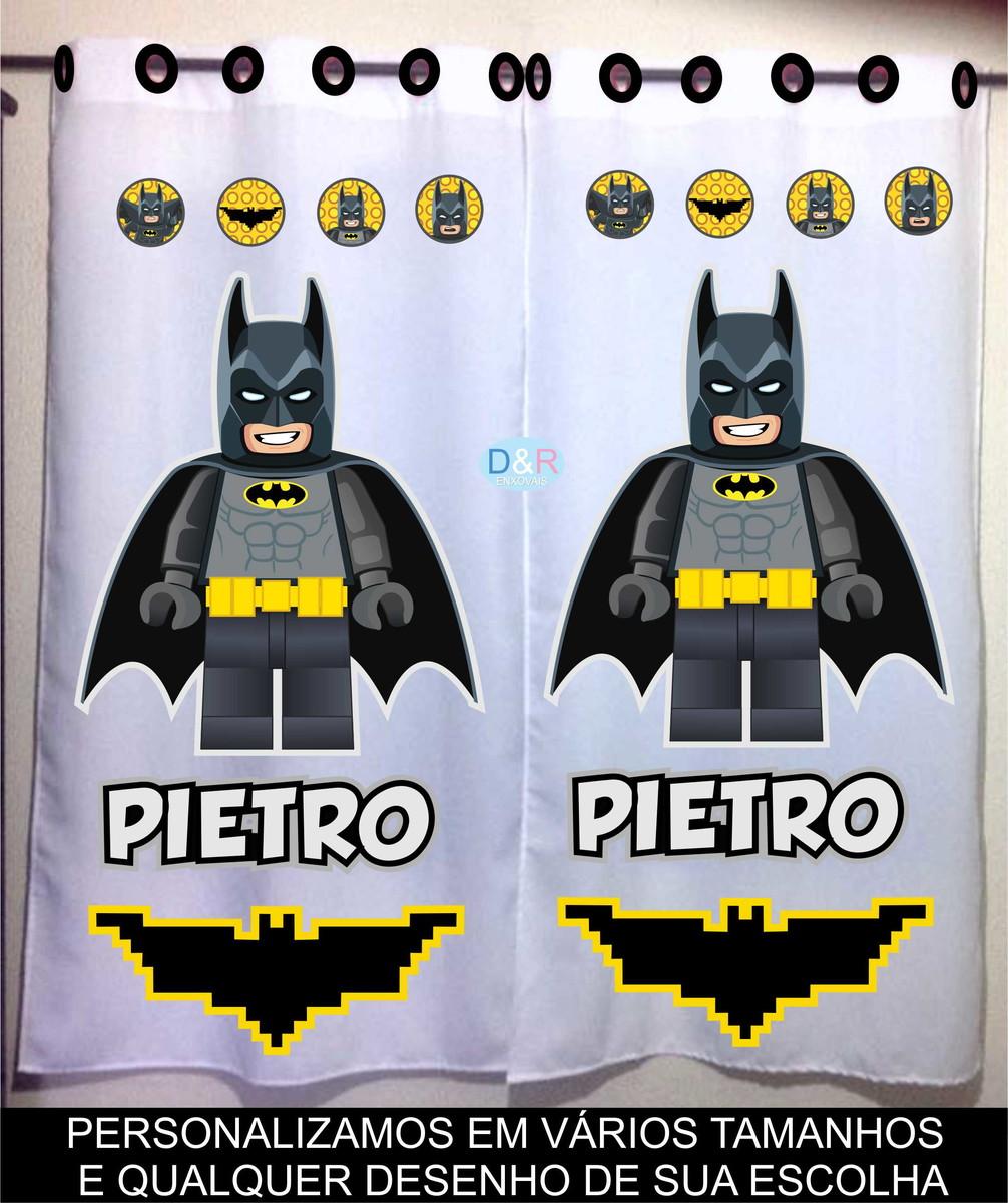 Famosos Cortina Lego Batman Personalizada no Elo7   D&R Enxovais (96E493) ZO55