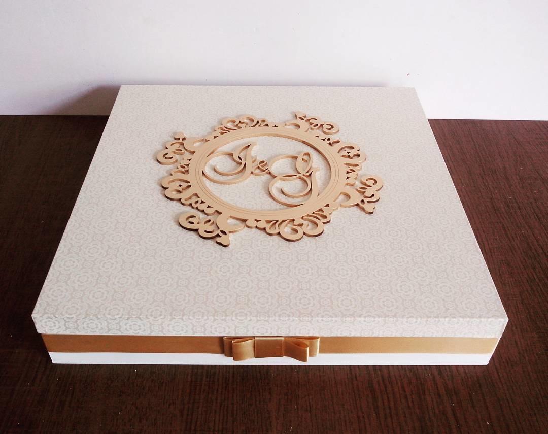 Caixa Álbum de Casamento Personalizado no Elo7  5ec754de98013