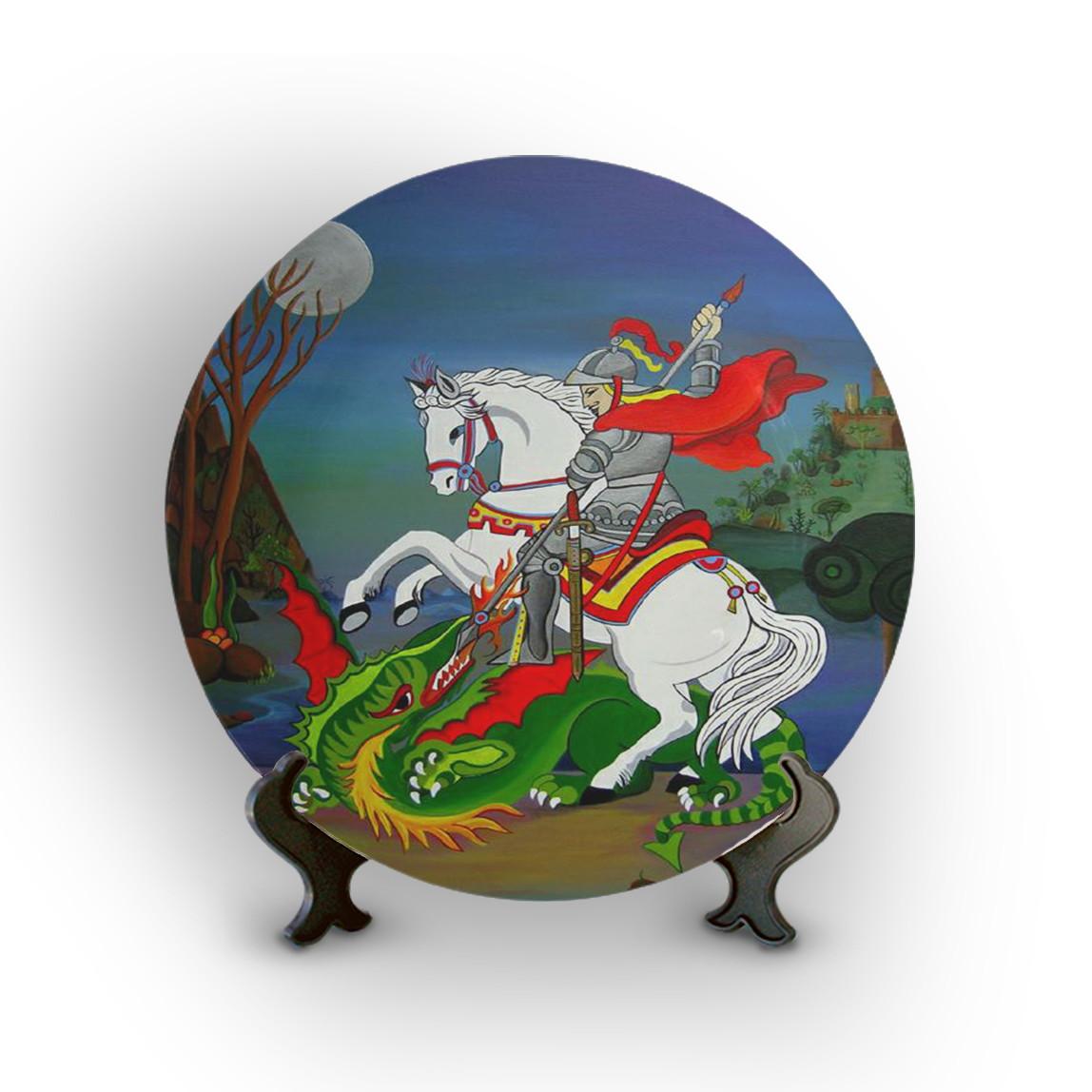 Prato Porcelana Decorativo São Jorge No Elo7 Ra Produtos