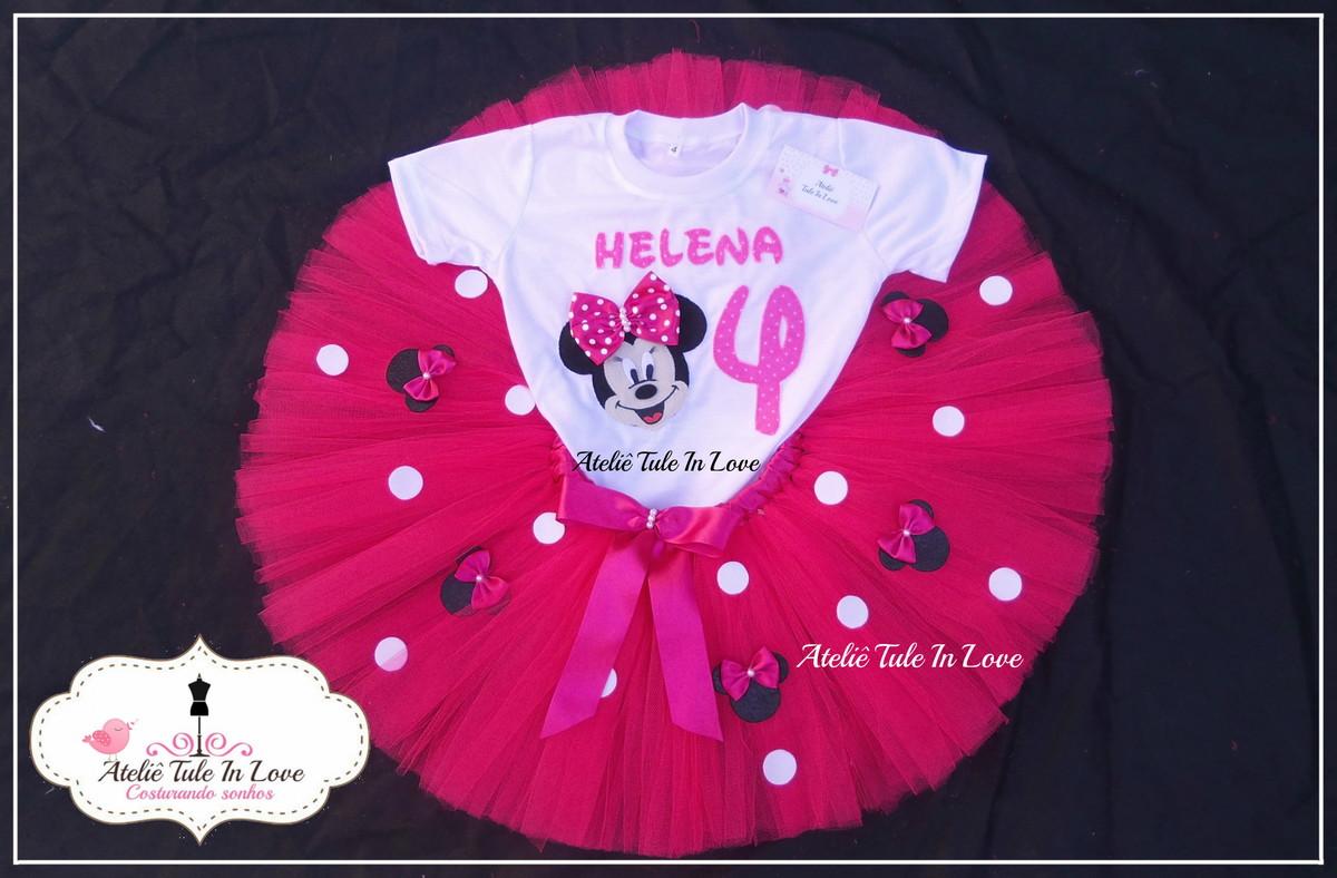 002e9e85f1 Conjunto Tutu Minnie pink 3 e 4 anos no Elo7