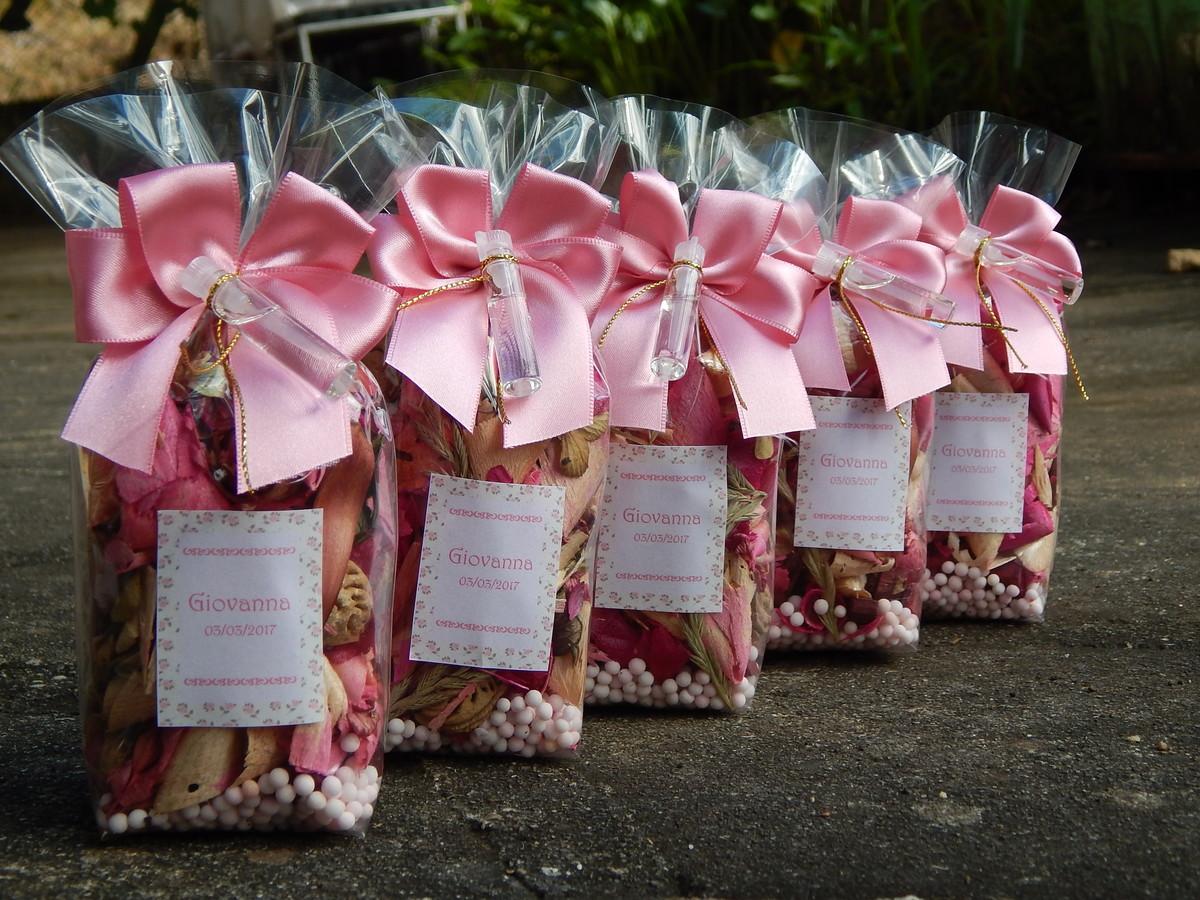 Frases Para Lembrancinhas De Aniversario: Lembrancinhas Aniversário Pot Pourri Rosa Flores E Folhas
