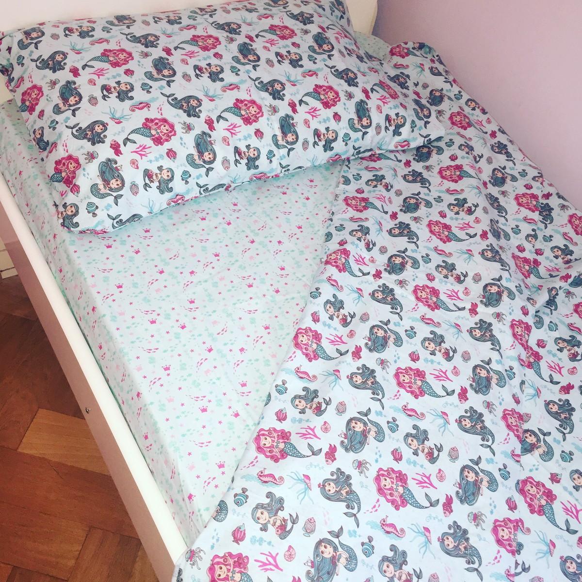 acffea20fa Conjunto lençol infantil cama solteiro no Elo7