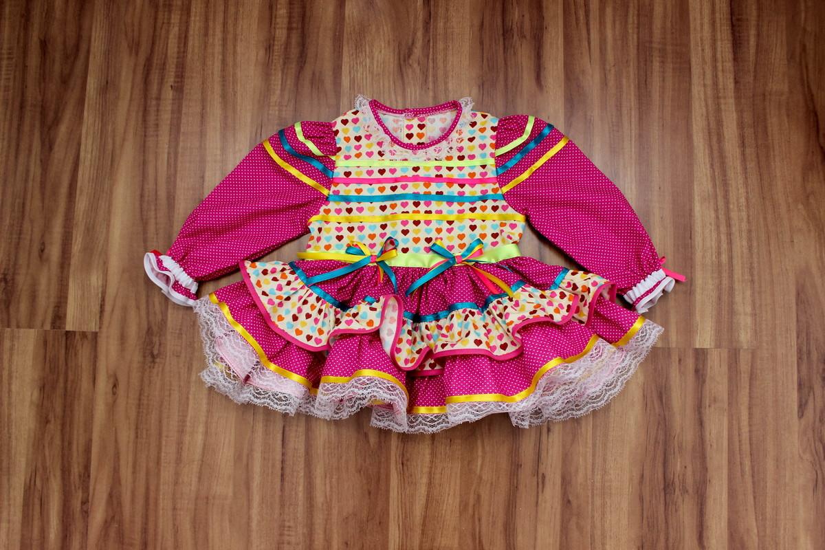 Bebê Vestido Festa Junina Marilu Fantasias Elo7