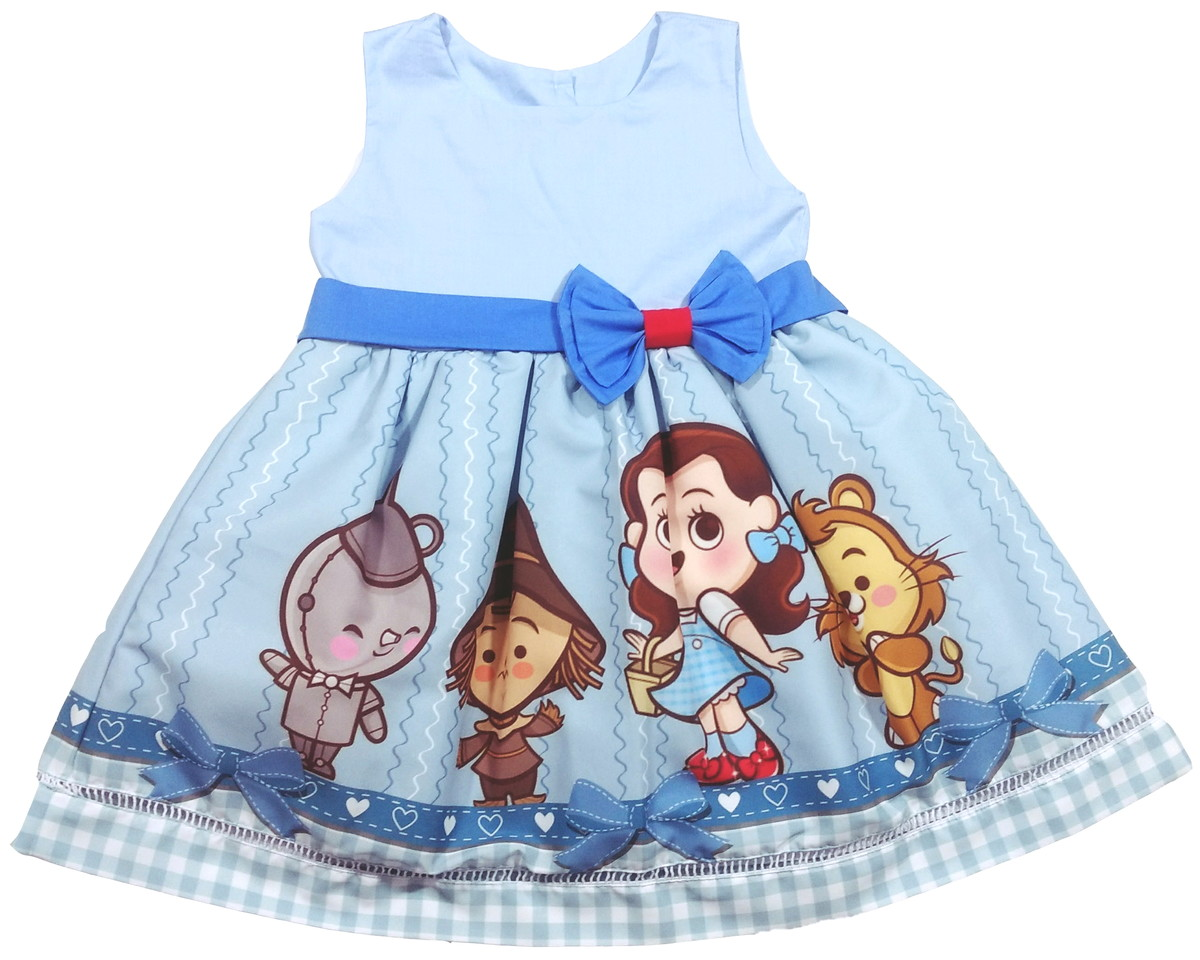 9ebb5a669e Vestido Mágico De Oz Baby 100% Algodão no Elo7