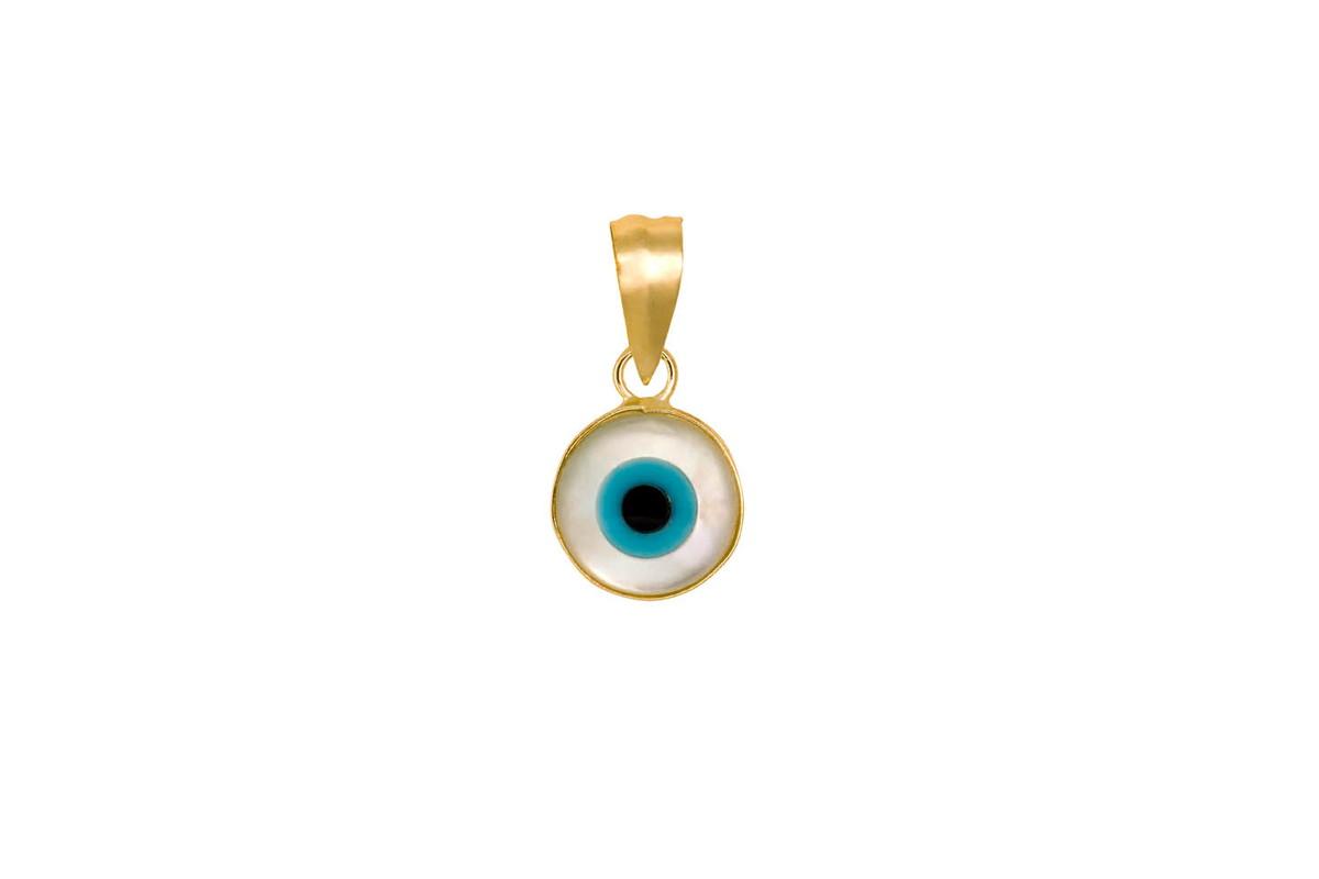 8e3751983c337 Pingente Olho grego em ouro 18k no Elo7   Joias da Nina (97586A)