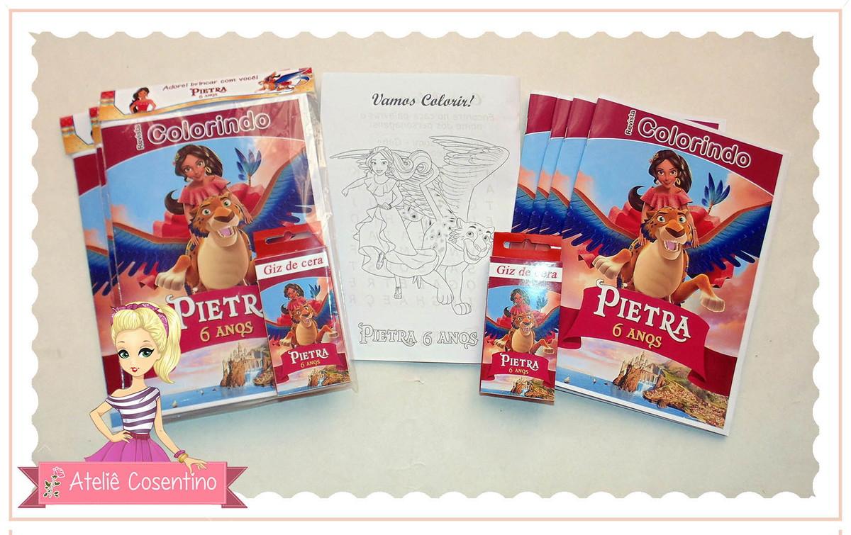 Kit Livro Colorir Giz Elena De Avalor No Elo7 Atelie Cosentino