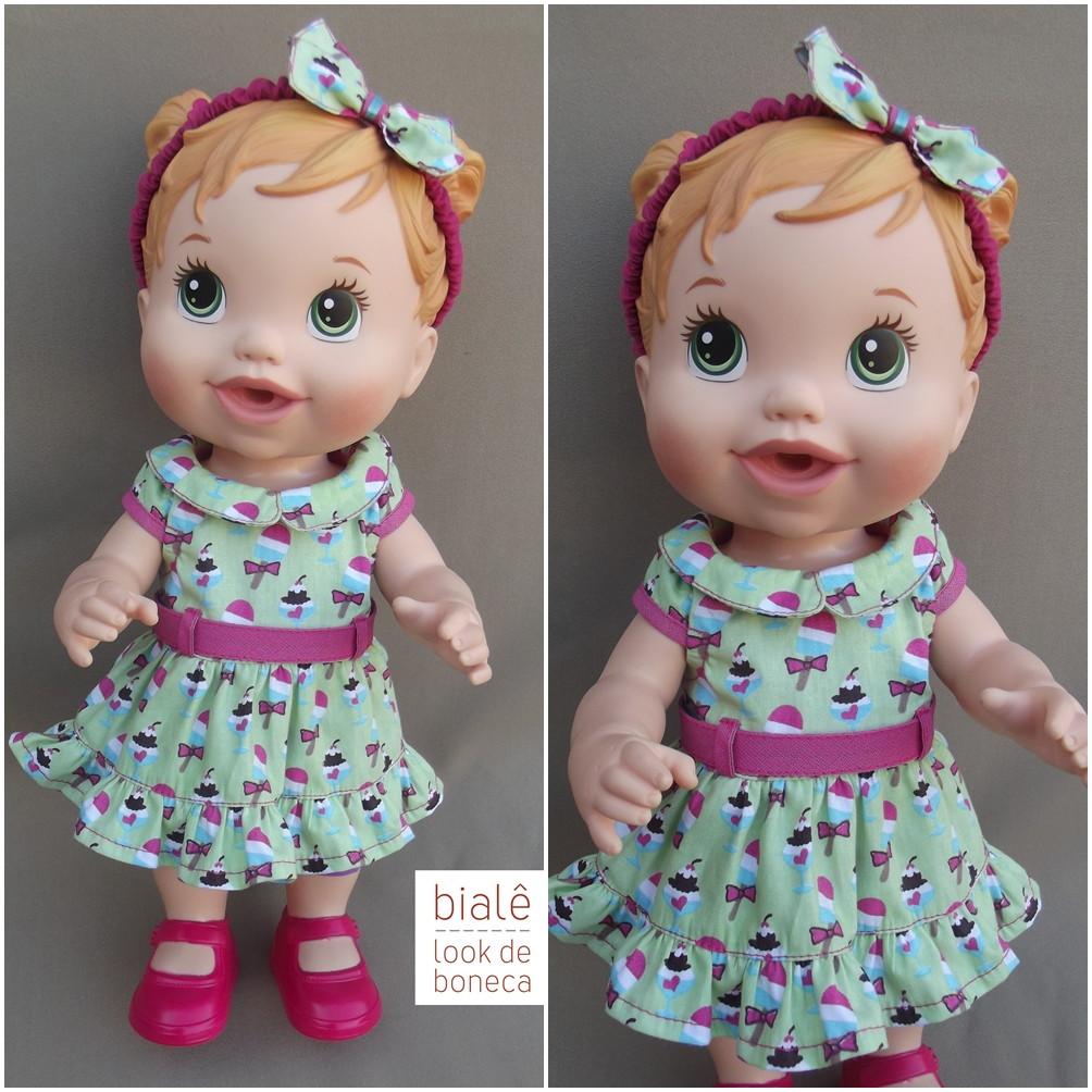 dfda139a5a Vestido tiara Baby Alive Machucadinho no Elo7
