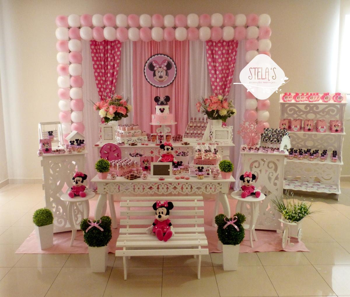 Decoraç u00e3o Minnie Rosa no Elo7 Stelas Decorações Provençais (979E49) -> Decoração De Zebra Para Aniversario