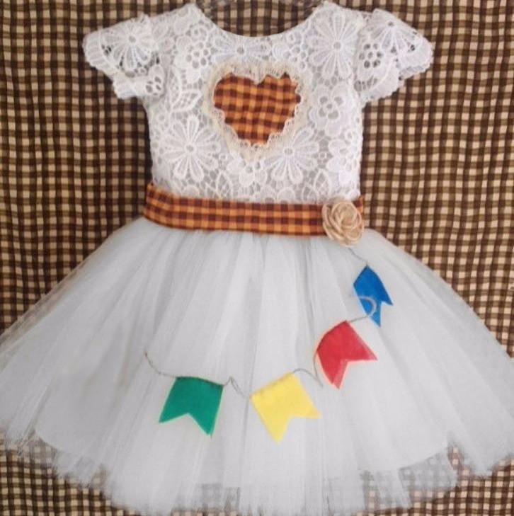 Vestido Caipira Noiva Bandeirinha