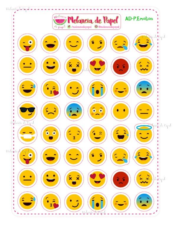 Adesivo De Emoji Para Imprimir ~ Adesivos para Planner Emotion no Elo7 Melancia de Papel (97D36F)