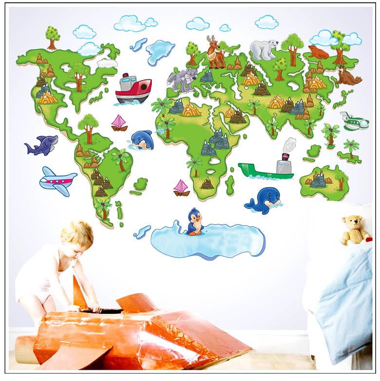 Aparador Verde Musgo ~ Adesivo Parede Mapa Mundi Infantil no Elo7 Child Adesivos (97F671)