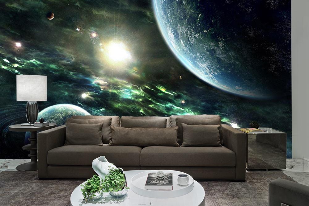 Papel de parede universo 3d encanto adesivos - Papel decorado para paredes ...