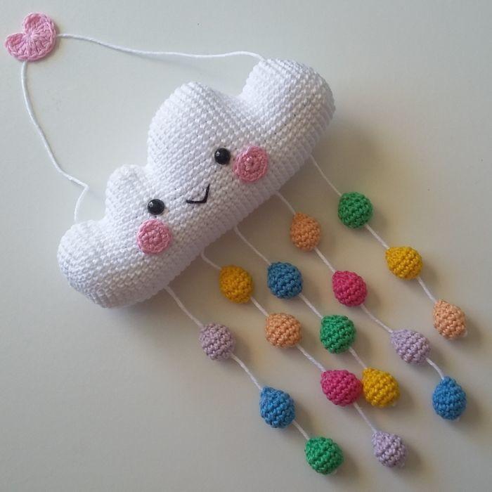 Mobile de ovelhinhas Crochet - amigurumi - nuvens amigurumi ...   700x700