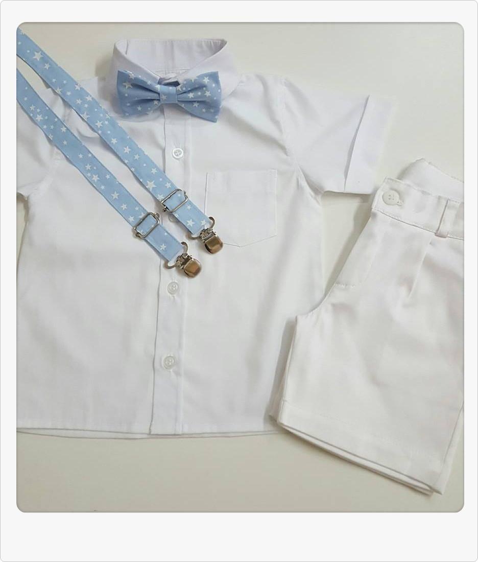 14e0b9158 Roupa Batizado Camisa Manga Longa no Elo7