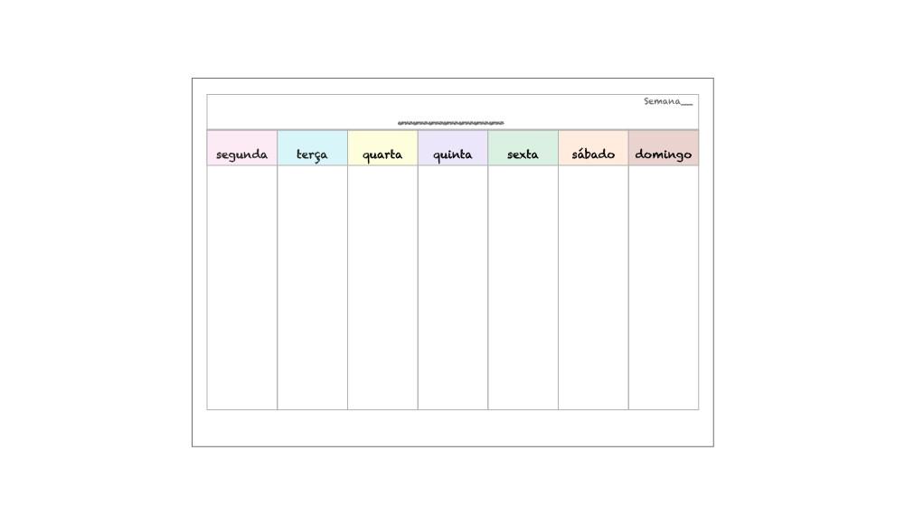 calendário semanal organização rotina no elo7 resolve com papel