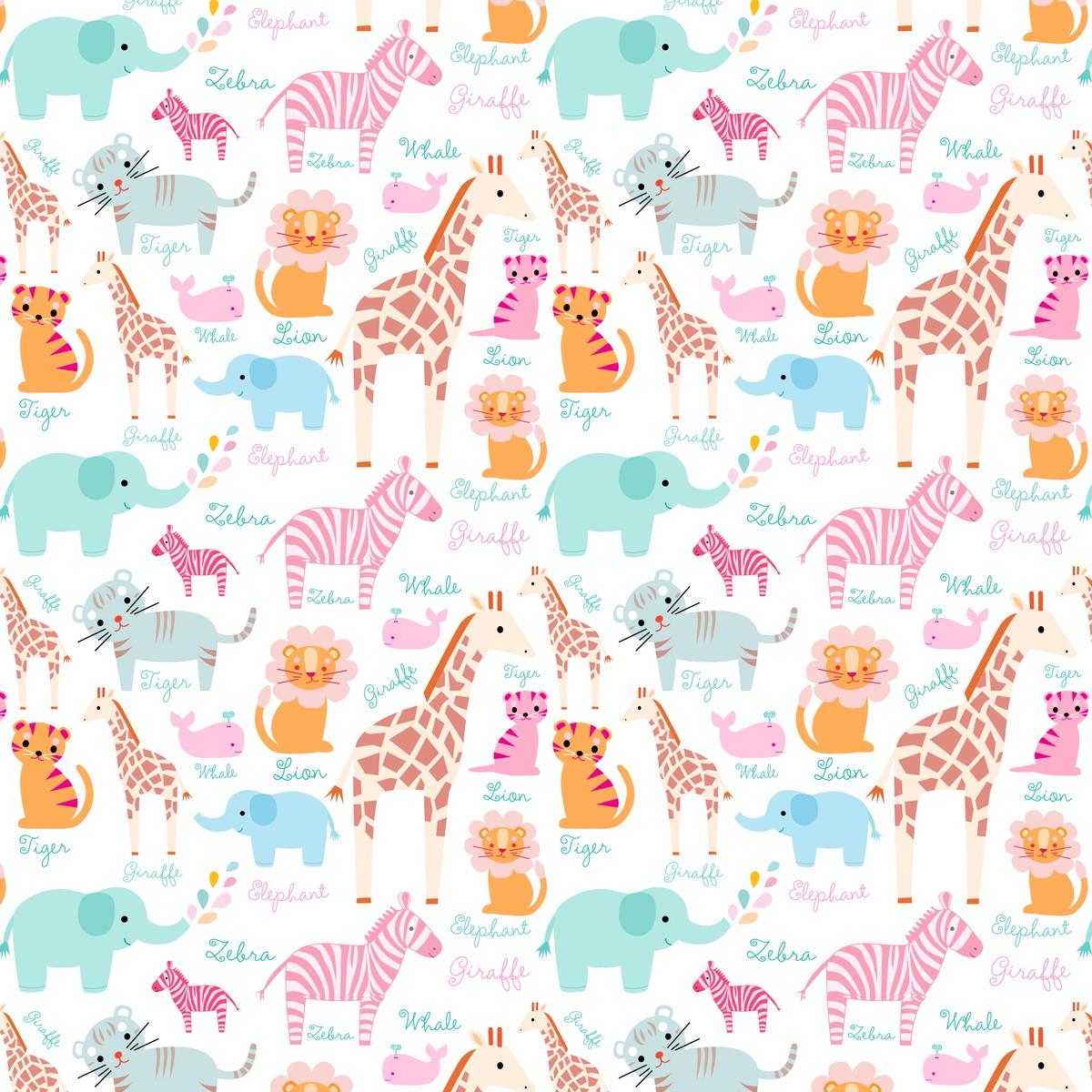 Papel de parede infantil girafas virgus adesivos for Papel pared infantil