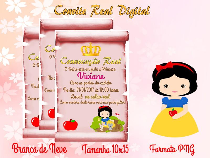 Convite Branca De Neve Digital